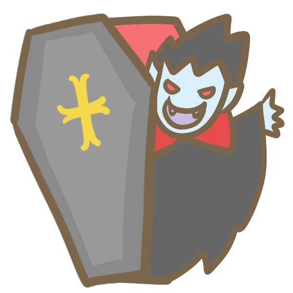棺からドラキュラのイラスト