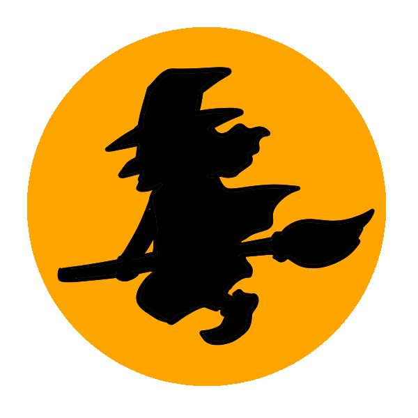 魔女の影のイラスト