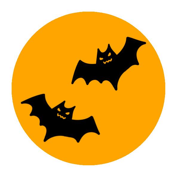 二匹のコウモリのイラスト