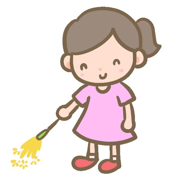 花火を楽しむ女の子のイラスト