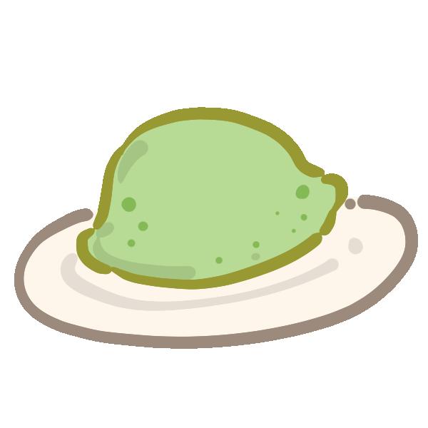 ウグイス餅のイラスト