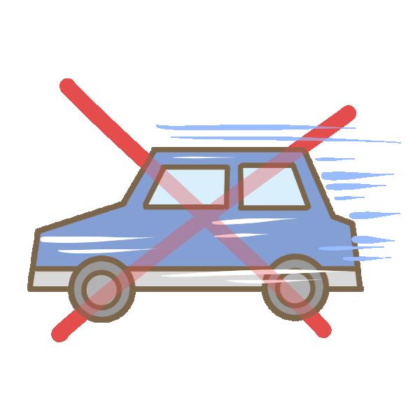 スピード違反のイラスト