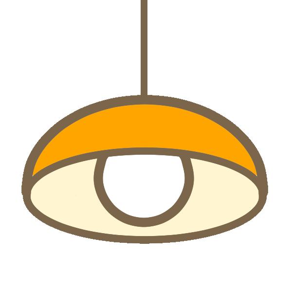 ペンダントライト(オレンジ)のイラスト