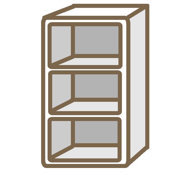 カラーボックス(白)のイラスト