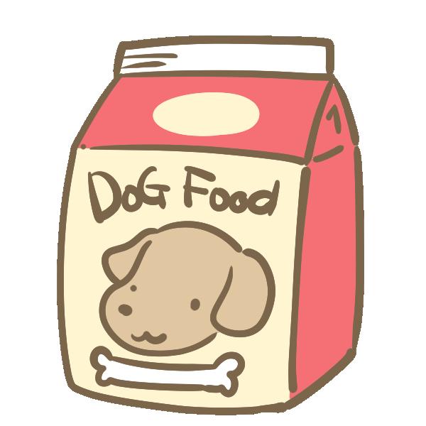ドッグフード(袋)のイラスト