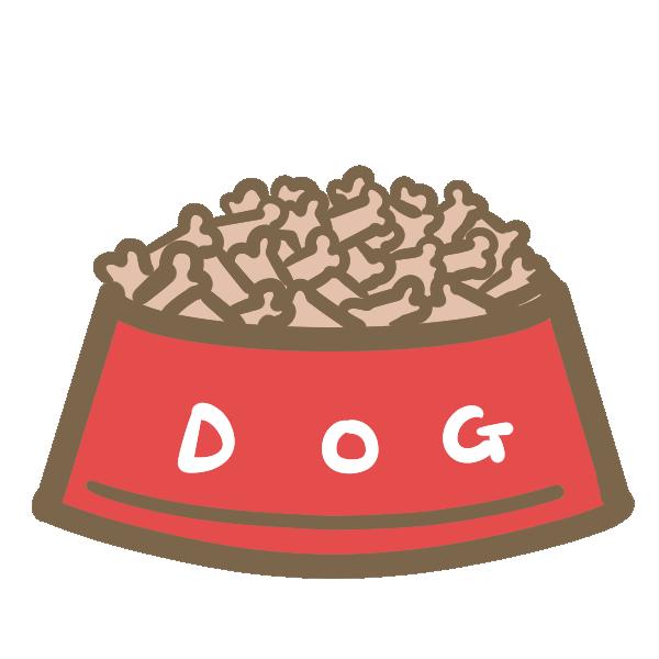 ドッグフード(お皿)のイラスト
