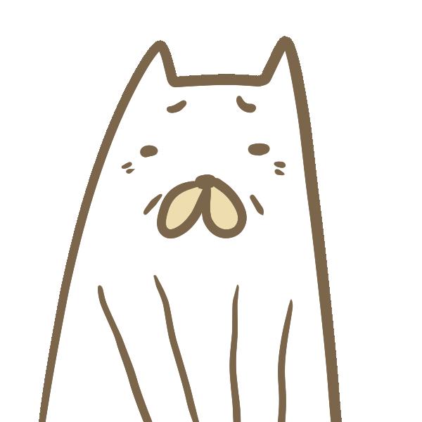 老犬のイラスト