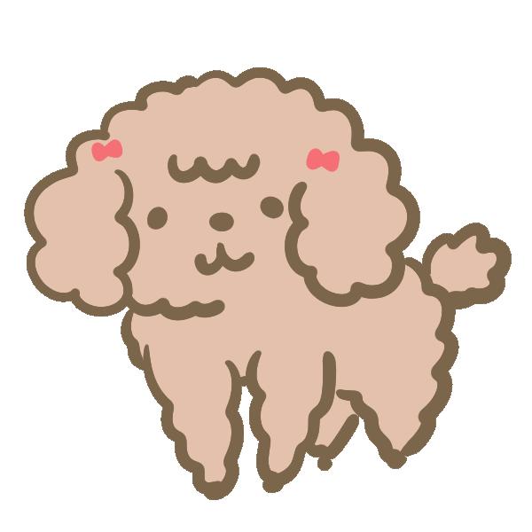 モフモフした犬(茶)のイラスト