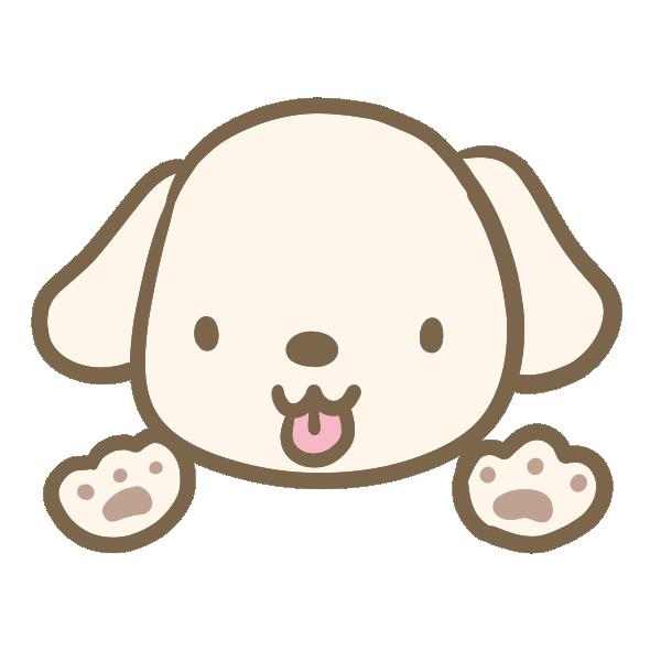 白い犬のイラスト