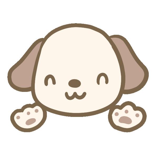 耳が茶色い犬のイラスト