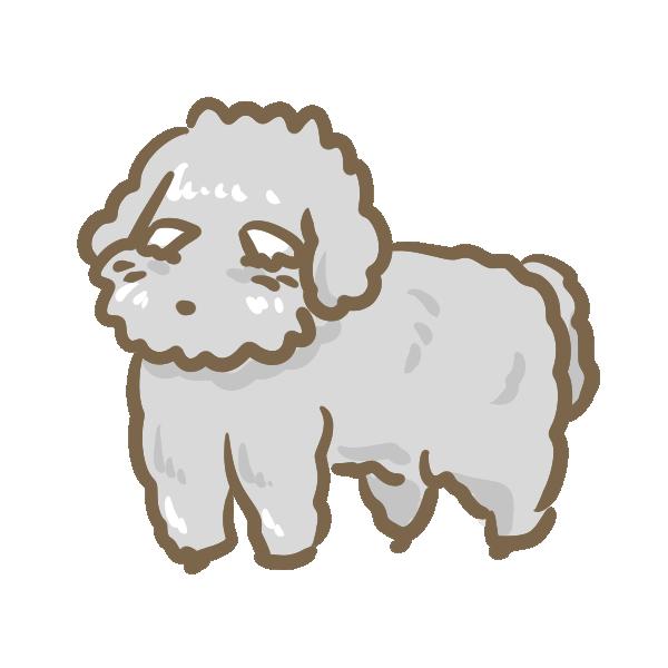 おじいさんに見える犬のイラスト