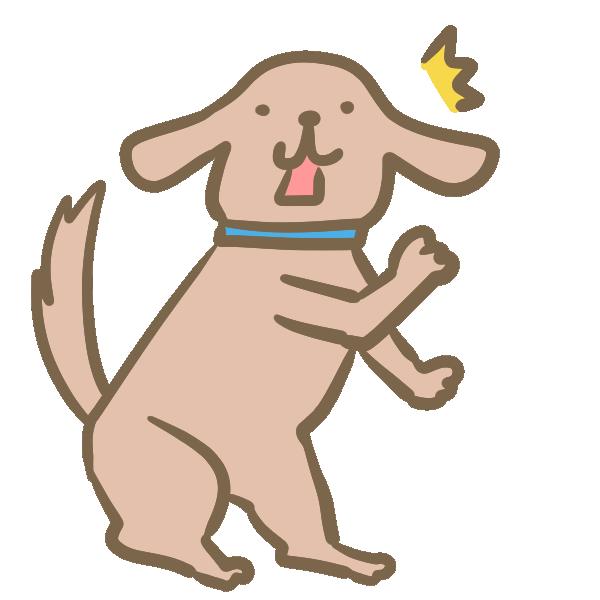 びっくりする犬のイラスト
