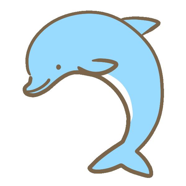 イルカ(水色)のイラスト
