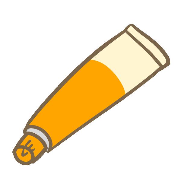 塗り薬(オレンジ)のイラスト