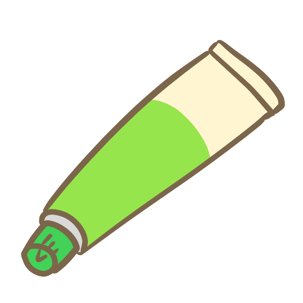 塗り薬(緑)のイラスト