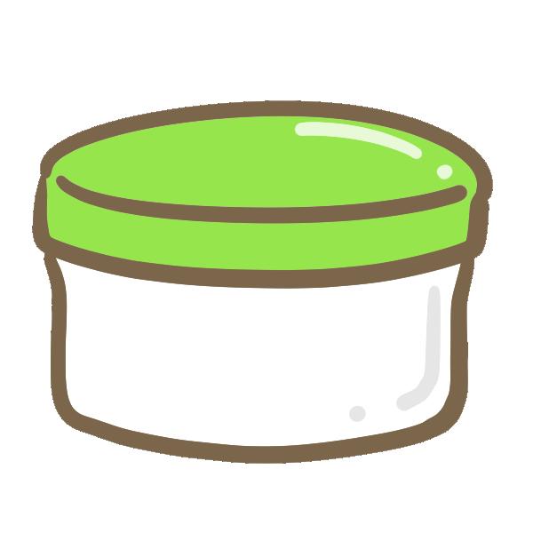 軟膏(緑)のイラスト