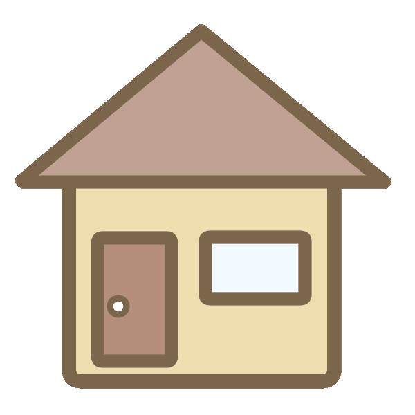 三角屋根の家(茶)のイラスト