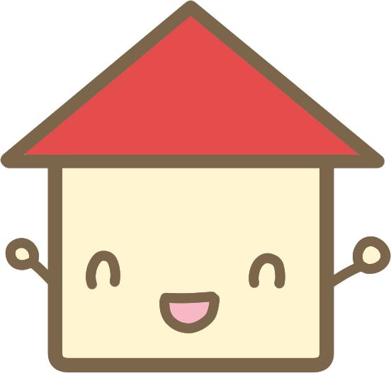 かわいい家 赤 のイラスト かわいいフリー素材が無料のイラストレイン