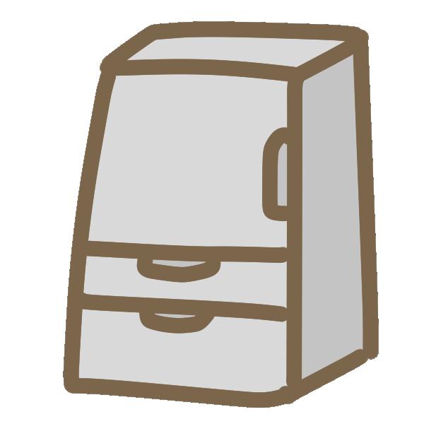 冷蔵庫(片開き)のイラスト
