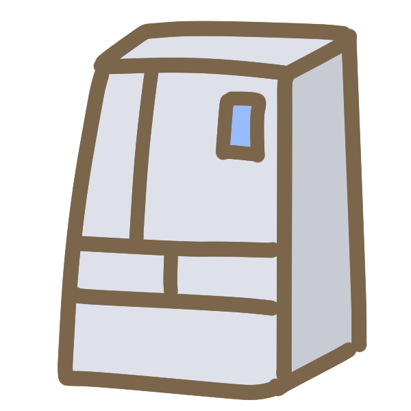 冷蔵庫(観音開き)のイラスト