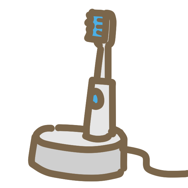 電動歯ブラシのイラスト