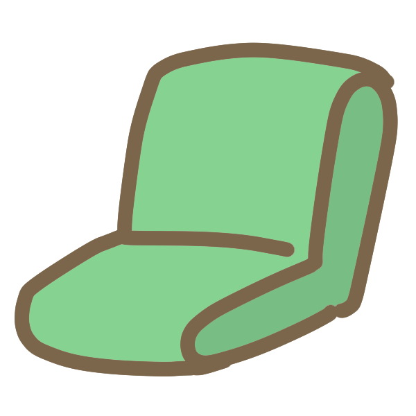 座いすのイラスト