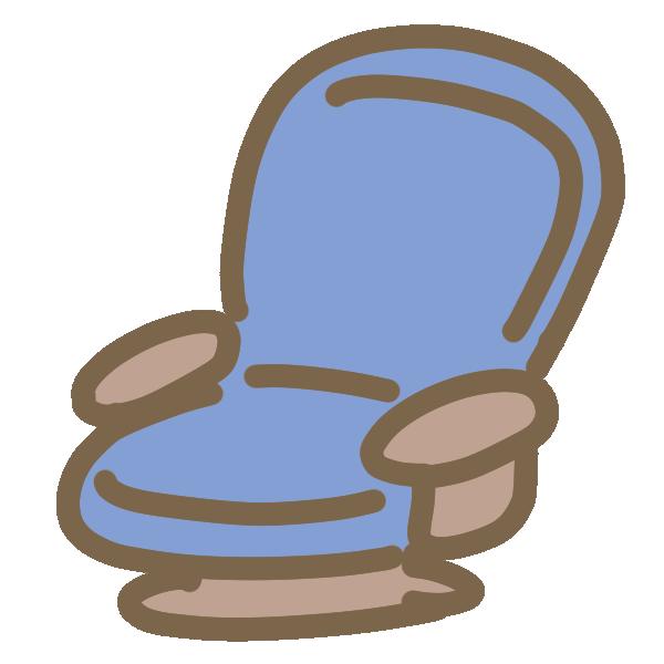 回る座いすのイラスト