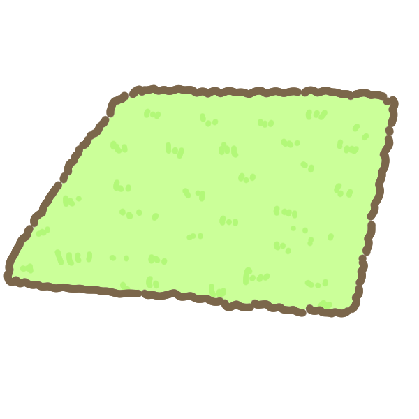ラグマット(四角)のイラスト