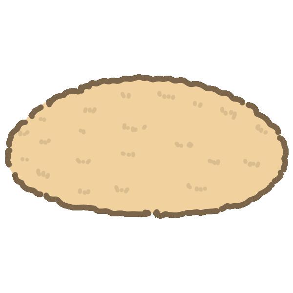 ラグマット(丸)のイラスト