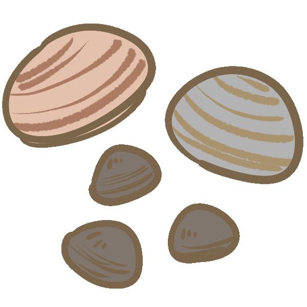 二枚貝のイラスト