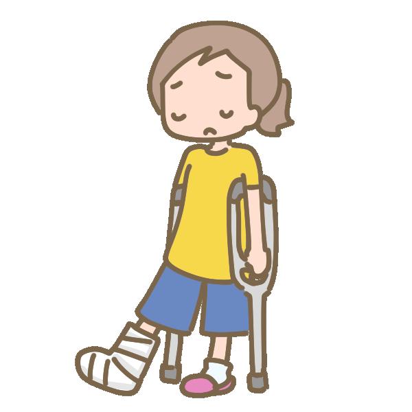 足の骨折のイラスト