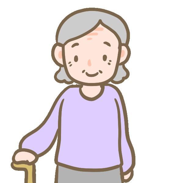 高齢のおばあさんのイラスト