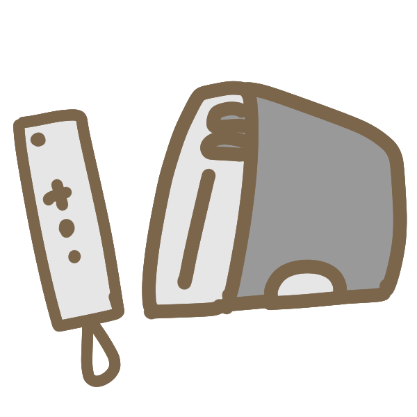 据え置き型ゲーム機(白)のイラスト