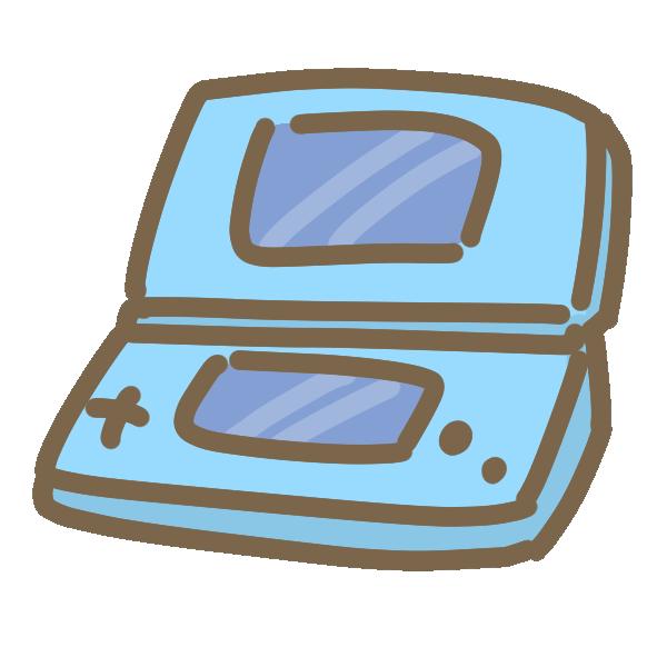 ポータブルゲーム機(青)のイラスト
