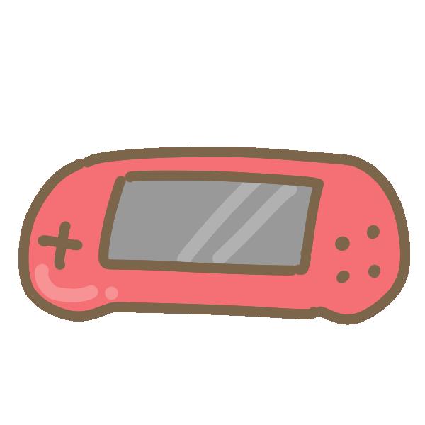 ポータブルゲーム機(白)のイラスト