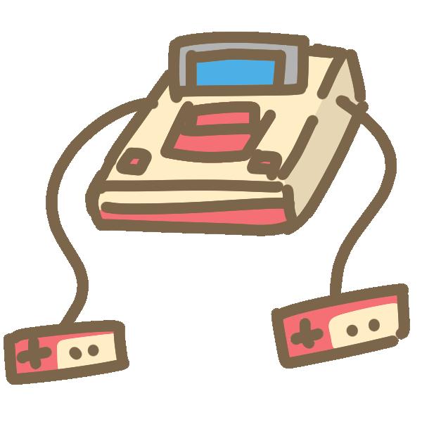 レトロなテレビゲーム機のイラスト
