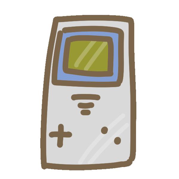 レトロなポータブルゲーム機のイラスト