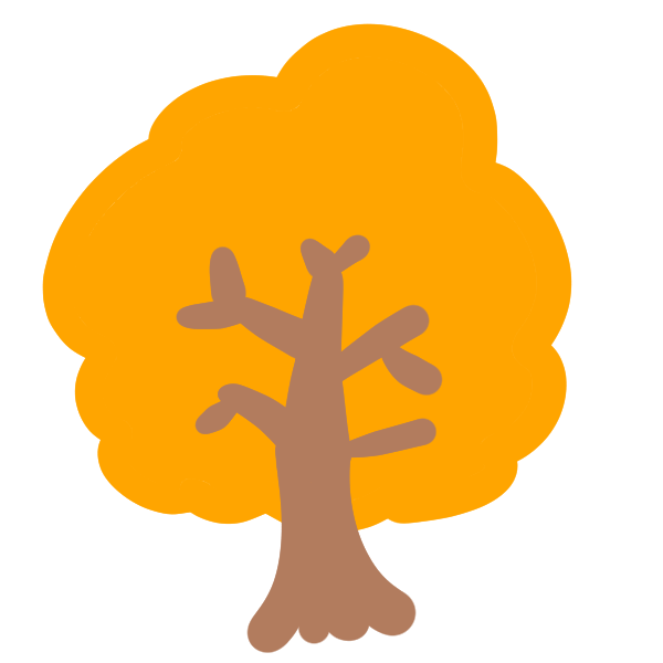 紅葉の木(オレンジ)のイラスト