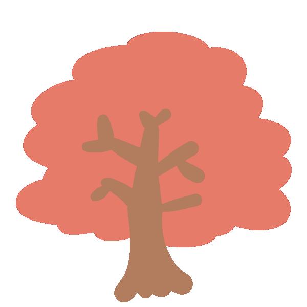 紅葉の木(赤)のイラスト