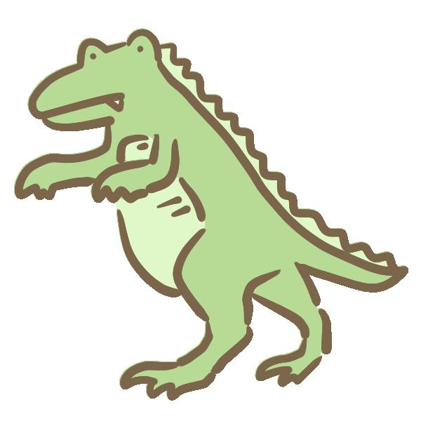 ゆるい恐竜のイラスト