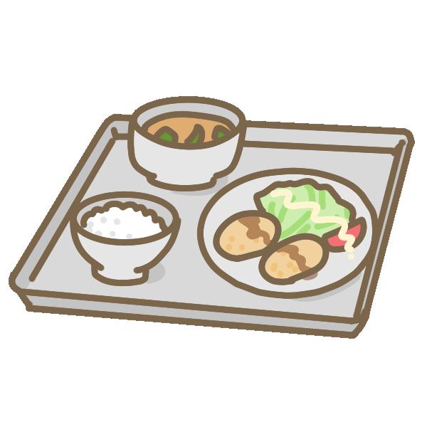 給食(トレータイプ)のイラスト