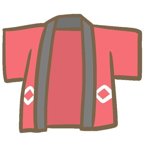 赤い法被のイラスト