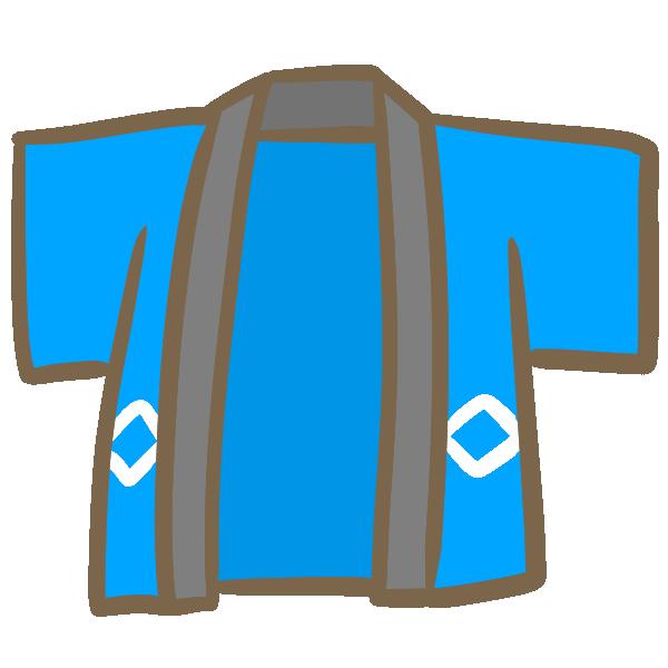青い法被のイラスト