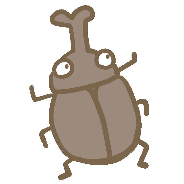 カブト虫のイラスト