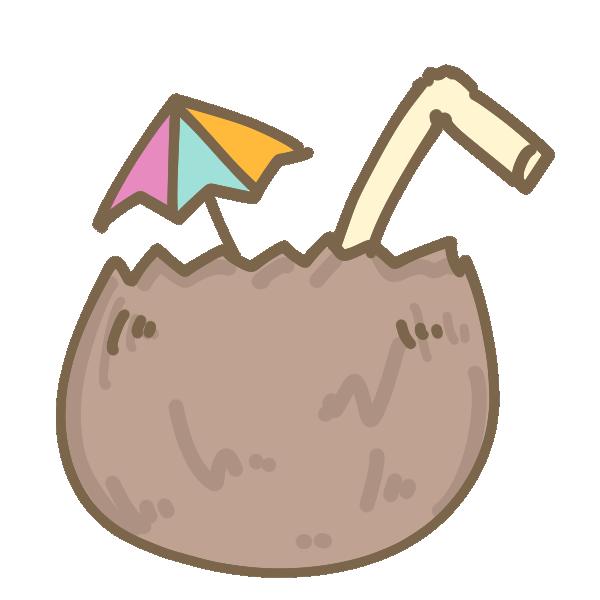 ココナッツドリンクのイラスト