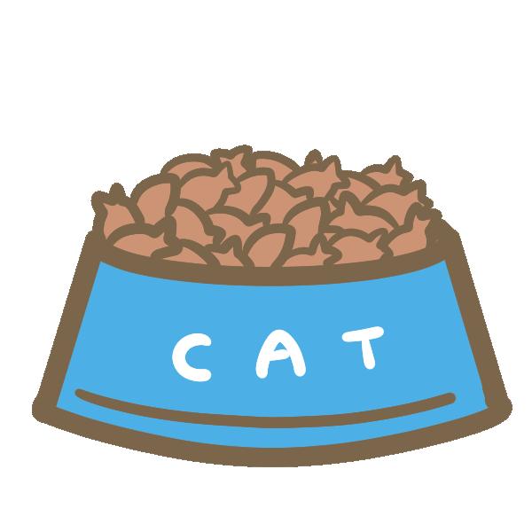 キャットフード(お皿)のイラスト