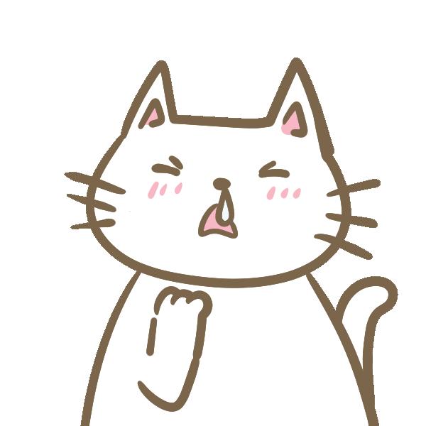 調子が悪い猫のイラスト