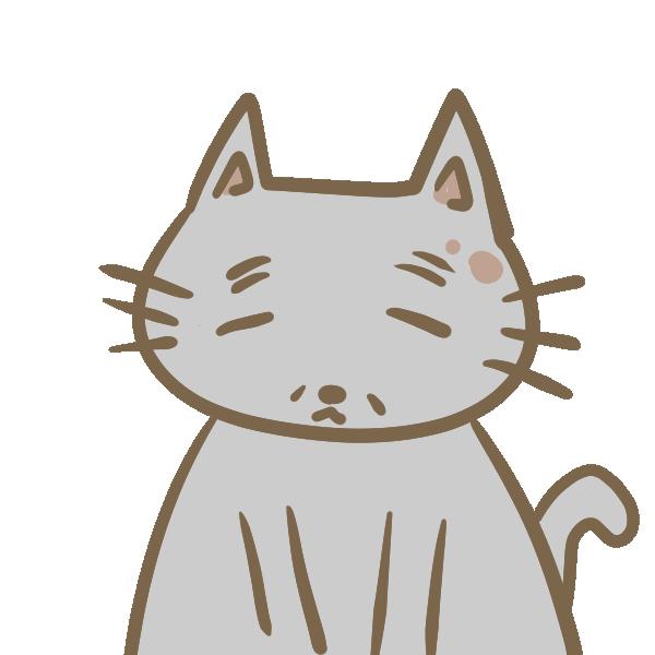 年老いた猫のイラスト