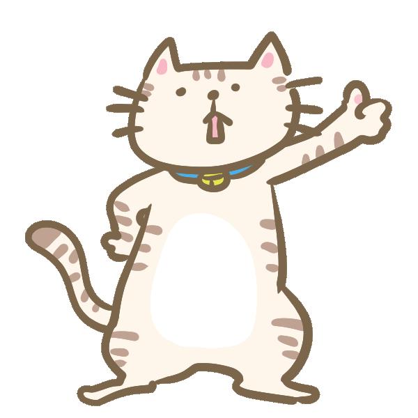 イイネ!をする猫のイラスト