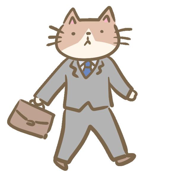 猫のサラリーマンのイラスト
